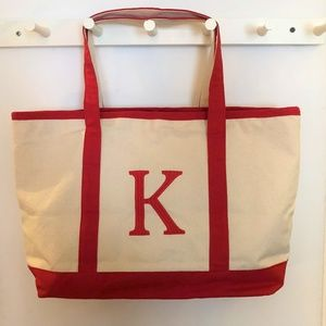 Handbags - Adorable Tote Monogrammed With A K